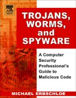 trojans worms and spyware a computer security professional's guide to malicious code (2005)