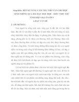 skkn rèn kĩ năng cảm thụ thơ văn cho học sinh thông qua bài dạy - học đọc - hiểu văn bản thơ trữ tình.doc