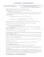 đề thi đại học môn toán năm 2014 đáp án chi tiết