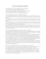 Bài tập luật doanh nghiệp