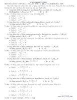 Công thức giải nhanh hóa học
