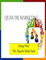quản trị marketing phân tích cơ hội thị trường