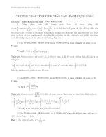 Phương pháp tính tích phân các hàm lượng giác