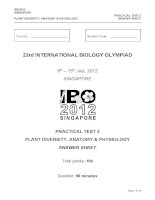 Practical test 3 plant diversity anatomy and physiology answer sheet