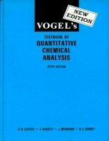 vogel's textbook of quantitative chemical analysis 5th ed - g. jeffery, et al (1989) ww