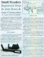 small wonders - registered drop in auto sears & auto connectors - mendenhall, monty captian