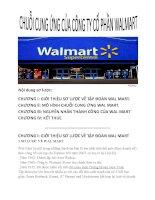 Chuỗi cung ứng của công ty cổ phần walmart