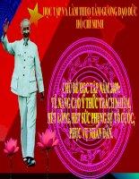 Đề tài học tập tư tưởng đạo đức Hồ Chí Minh