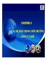Bài giảng Hóa keo: Chương 5 CÁC HỆ KEO TRONG MÔI TRƯỜNG LỎNG VÀ KHÍ  ThS. Trương Đình Đức