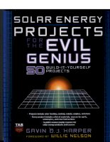 solar energy projects for the evil genius - 50 build it yourself projects