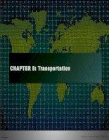 Tài liệu tiếng Anh thương mại Chap008 Transportation