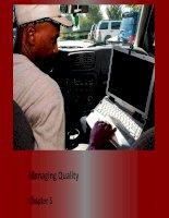 Tài liệu tiếng anh session 4 chapter 5 Managing quality
