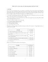 Phân tích và lựa chọn phương pháp tính hệ số nền