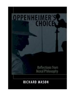 state university of new york press oppenheimers choice reflections from moral philosophy jul 2006