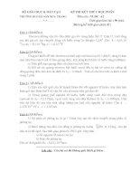 Đề và đáp án Vật lý đại cương 2