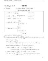 Chuyên đề đại số (Hướng dẫn giải các dạng bài tập từ các đề thi quốc gia toán học. )
