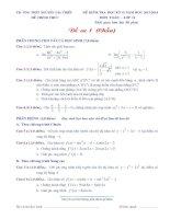 Đề kiểm tra HK2 toán 11 (2013   2014)   trường THPT nguyễn gia thiều (kèm đáp án)