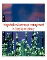 xử lý môi trường ở nhà máy lọc dầu dung quất