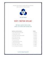 Tiểu luận quản lý chất lượng: Tiến trình DMAIC