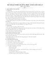 KẾ HOẠCH bồi DƯỠNG học SINH GIỎI hóa 9