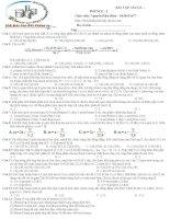 Bài tập Ancol - phenol -I