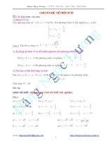 Chuyên đề: Hệ thức Vi ét - ôn thi vào lớp 10