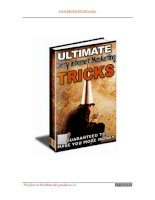 ULTIMATE DIRTY INTERNET MARKETING TRICKS