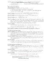 tuyển tập các đề thi thử đại học môn toán của các trường phổ thông trung học trên cả nước năm 2014