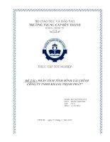 đề tài phân tích tình hình tài chính công ty tnhh khang thịnh phát