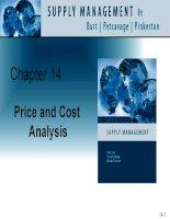 Tài liệu tiếng Anh thương mại quản lý Chapter 14 Price and cost analysis