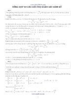 50 câu hỏi phụ khảo sát hàm số ôn thi đại học