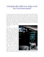 Tài liệu Giải pháp điều khiển truy nhập xe hơi của Texas Instruments docx