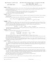 Tài liệu Đề thi Hóa khối B tuyển sinh năm 2004 ppt