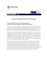 Tài liệu KRONE - White paper - TrueNET - Do Standards Go Far Enough - 2003 pdf