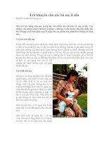 Tài liệu Lời khuyên cho các bà mẹ ít sữa doc