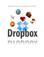 Tài liệu Thêm Dropbox vào menu Send To trong Windows 7, XP và Vista ppt