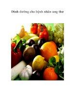Tài liệu Dinh dưỡng cho bệnh nhân ung thư pptx