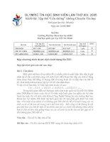 Tài liệu OLYMPIC TIN HỌC SINH VIÊN LẦN THỨ XIV, 2005 doc