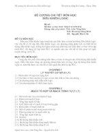 Tài liệu ĐỀ CƯƠNG CHI TIẾT MÔN HỌC ĐIỀU KHIỂN LOGIC doc