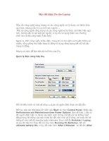 Tài liệu Mẹo tiết kiệm Pin cho Laptop docx