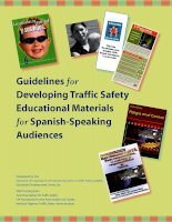Tài liệu Guidelines for Developing Traffic Safety Educational Materials for Spanish-Speaking Audiences doc