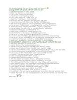 Tài liệu Đáp án bài tập đảo ngữ pptx