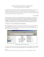Tài liệu Cài đặt, cấu hình và kiểm thử Exchange 2007 CCR trên Mailbox Server (Phần 3) ppt