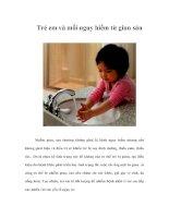 Tài liệu Trẻ em và mối nguy hiểm từ giun sán pdf