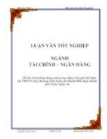 Luận văn Giải pháp tăng cường huy động tiền gửi tiết kiệm tại TMCP Công thương Việt Nam chi nhánh Bến thuỷ - thành phố Vinh - Nghệ An