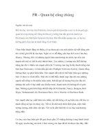 Tài liệu PR - Quan hệ công chúng pdf