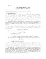 Hóa lý các hợp chất:  Những khái niệm cơ bản Về  hợp chất cao phân tử