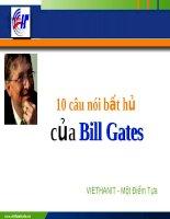 Tài liệu 10 câu nói bất hủ của Bill Gates VIETHANIT pdf
