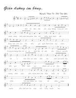 Tài liệu Bài hát giáo đường im bóng - Nguyễn Thiên Tơ & Phi Tâm Yến (lời bài hát có nốt) doc