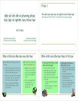 Tài liệu Một số vấn đề và phương pháp học tập và nghiên cứu khoa học pdf